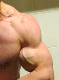 true natural bodybuilding right biceps pose